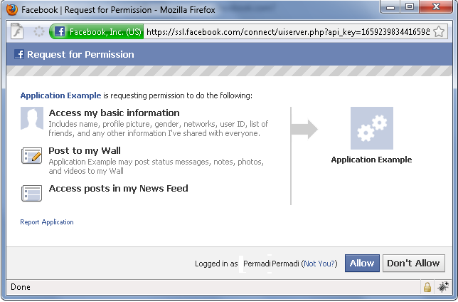 Facebook Graph API: Authenticating In IFrame Applications