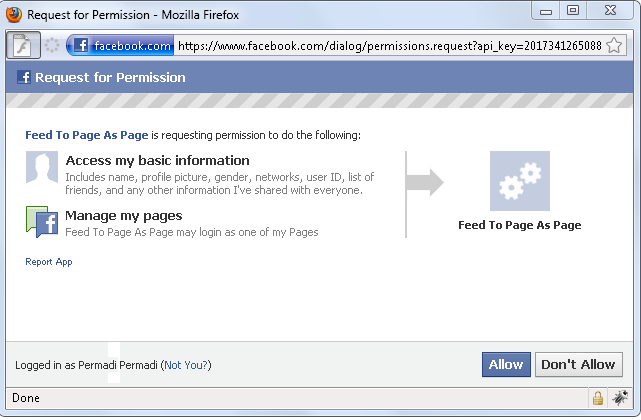 Facebook Graph API: Posting Feed To App Page As Page – permadi com