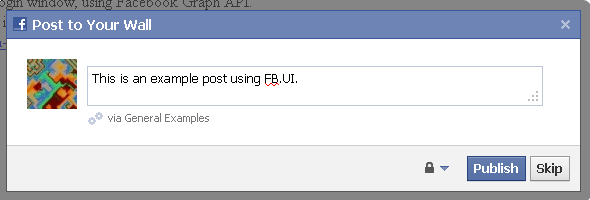 JavaScript Facebook Graph API: Posting To Walls – permadi com